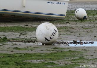 Embarcation temporairement échouée